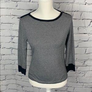 Issac Mizrahi Target Black White Striped Shirt